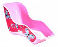 Кресло розового цвета для куклы на детский велосипед с бабочками