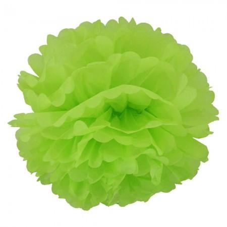 Декор бумажные Помпоны 20см (желто-зеленый)