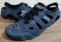 Мужские летние кожаные кроссовки Ecco Model D-011 , синие