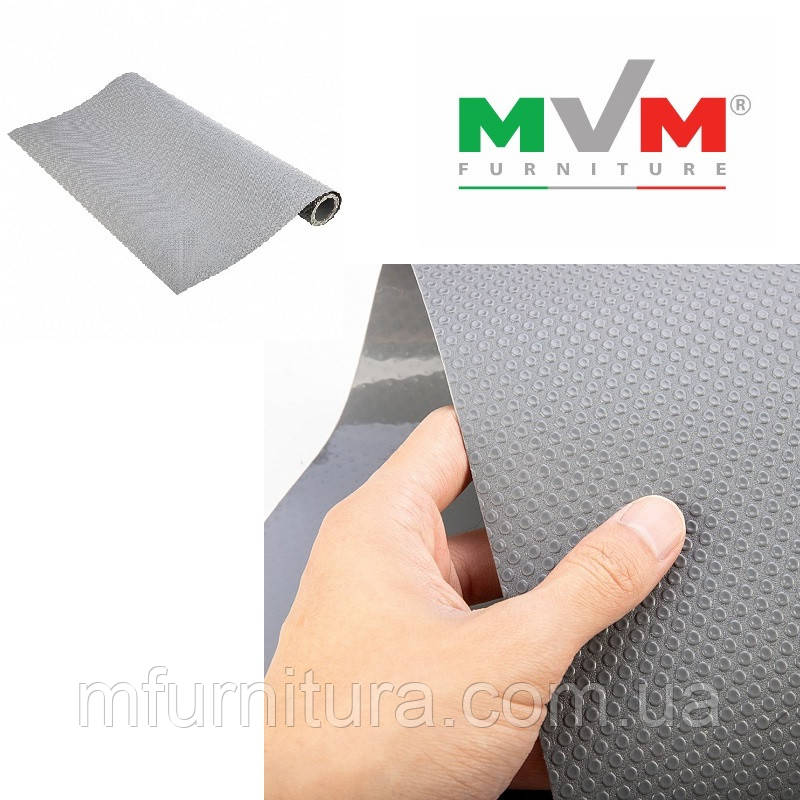 Коврик противоскользящий, серый (480 мм * 1,5 мм * 20 м) - MVM Furniture
