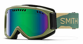 Маска гірськолижна Smith Scope Green Sol-X mirror Khaki