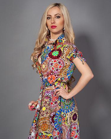 Женское летнее платье на пуговицах, фото 2