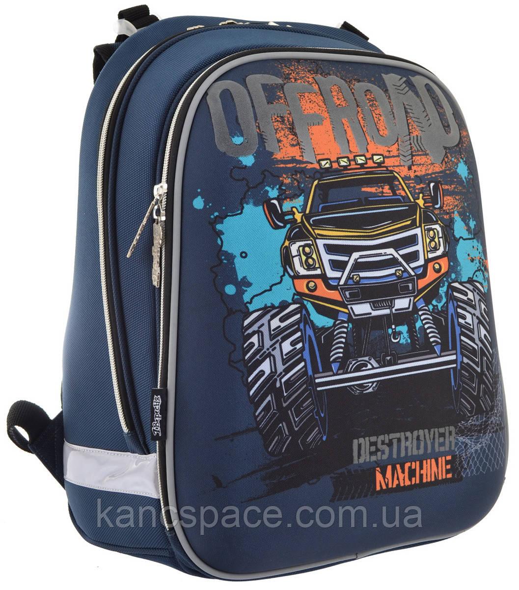 """Рюкзак шкільний, каркасний H-12 """"Off-road"""""""