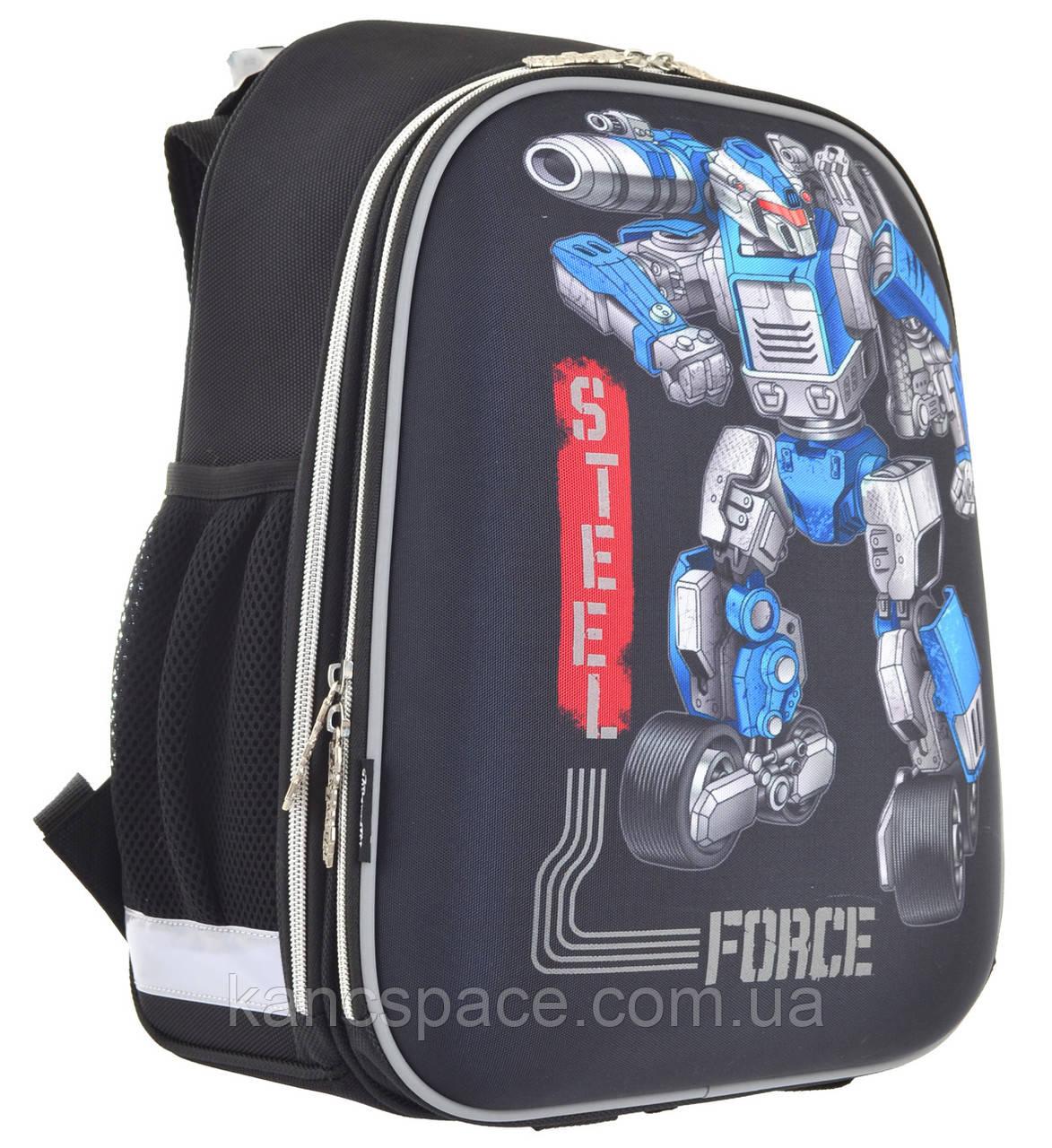 """Рюкзак шкільний, каркасний H-12 """"Steel Force"""""""