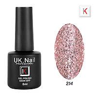 Гель-лаки UK.Nail 8мл №214