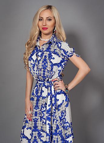 Летнее женское платье на пуговицах, фото 2