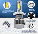 Автомобильные Светодиодные Лед LED лампы  HeadLight  C6 72 Вт 7600LM 6500К 12V COB Цоколь H4, фото 9