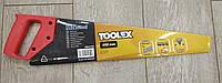 Ножовка столярная с калёным зубом 450мм, 7 TPI двойная заточка Toolex