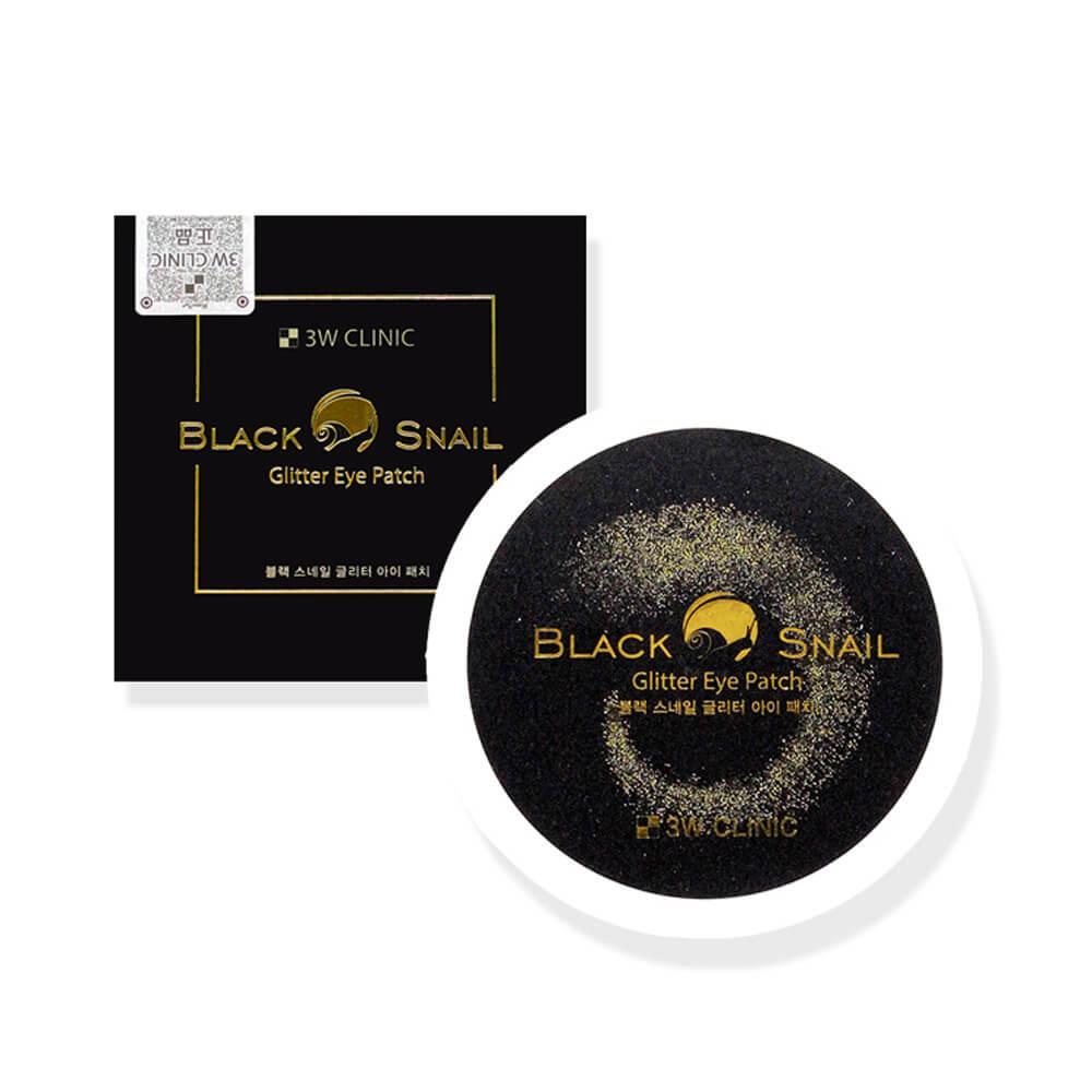 Гидрогелевые патчи сверкающие с черной улиткой 3W Clinic Black Snail Glitter Eye Patch