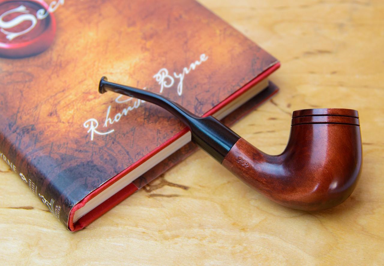 Классическая курительная трубка KAF232 форма Bent Шерлок Холмс из дерева груши под фильтр 9 мм