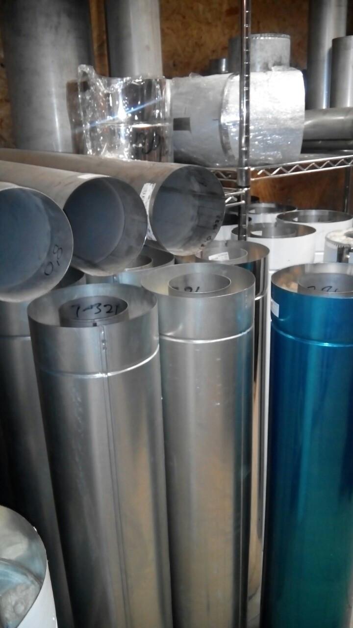 Дымоходы 120 /220 н/н, н/оцн для банной дровяной печи 1 мм AISI 321.