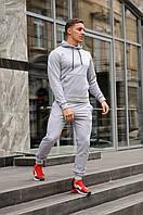 Спортивный костюм мужской весна-лето-осень (серая   худи + серые  штаны)