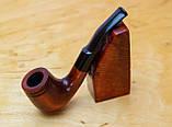 Классическая курительная трубка KAF232 форма Bent Шерлок Холмс из дерева груши под фильтр 9 мм, фото 5