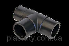 Трійник литий стикового рівносторонній D90 SDR11