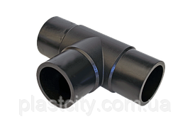 Трійник литий стикового рівносторонній D225 SDR11
