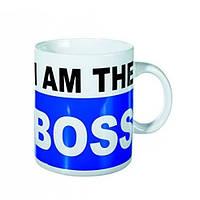 Кружка ООТВ I am the Boss XL керамическая, фото 1