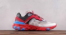 Кроссовки Nike React Element 87 Undercover Volt (Красные), фото 2