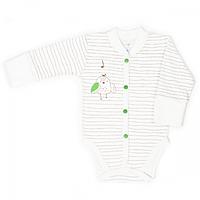 Боди для новорожденных Верес Funy sparrows strip интерлок молочный