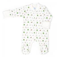 Комбинезон для новорожденных Верес Funy sparrows интерлок  молочный