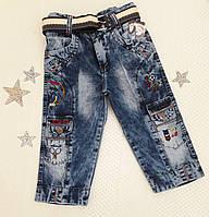 Бриджи на мальчика, р. 75, 80, 85 (6, 7, 8 лет), джинсовый синий, фото 1