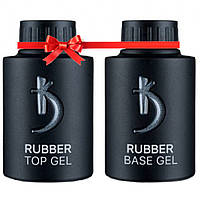 База и топ для гель-лака Коди 35 мл (Kodi Rubber Base Gel 35 мл + Kodi Rubber Top Gel 35 мл)