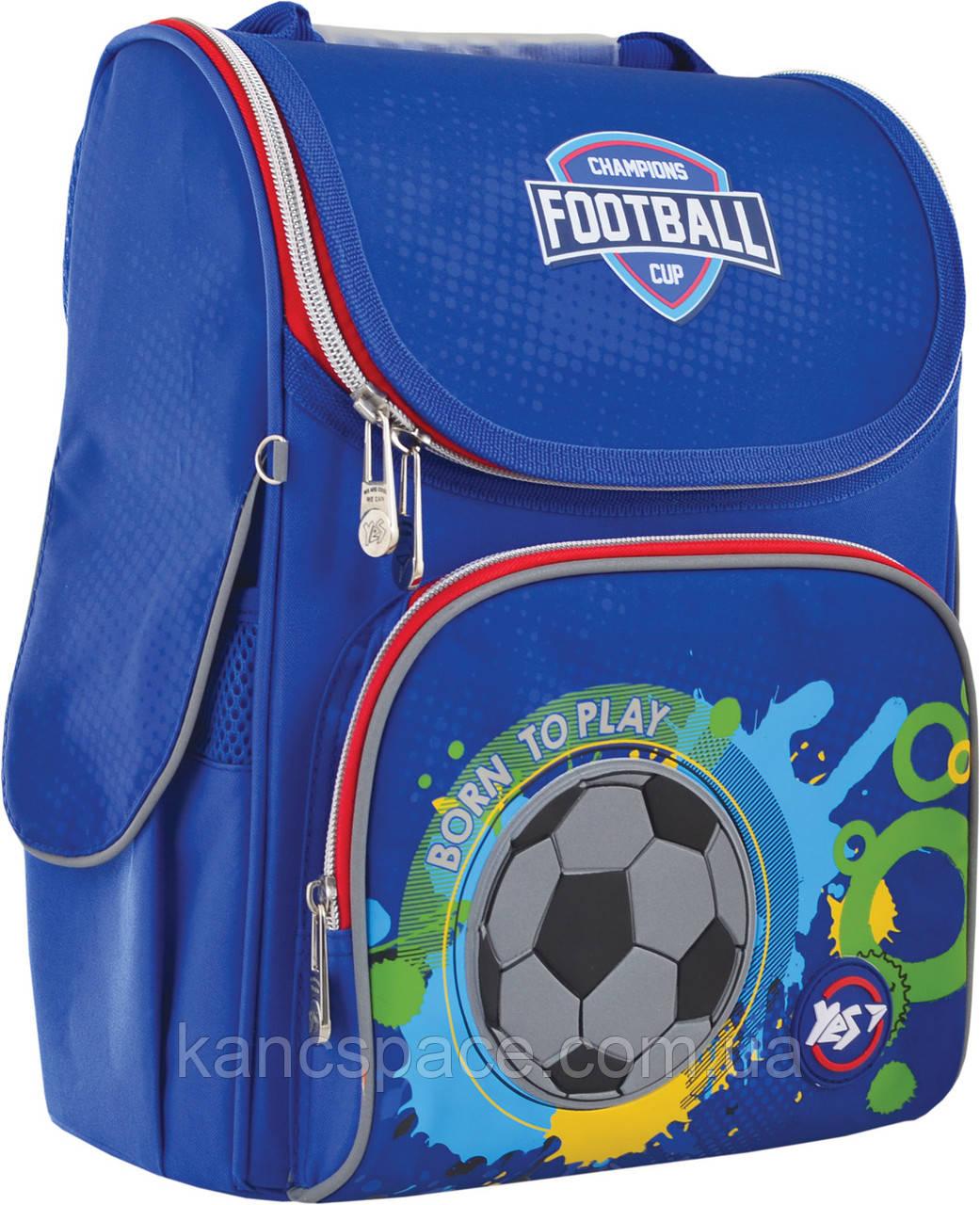 """Рюкзак шкільний, каркасний H-11 """"Born To Play"""""""