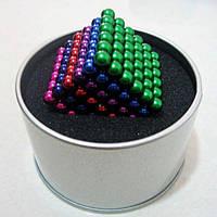 Конструктор неокуб 216 магнитных шариков 5 мм разноцветный 6 цветов игрушка головоломка Neocube в боксе