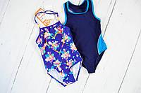 Світло-синій купальник на дівчинку на 3 роки Mothercare