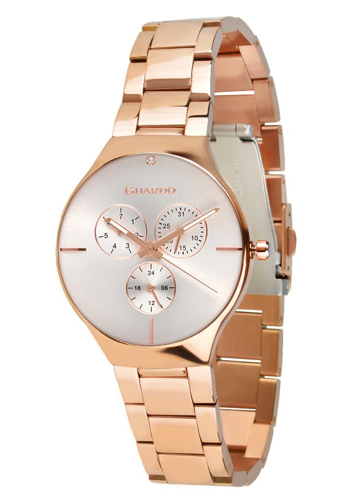 Часы женские Guardo золотые B01398-(1)-3 розово-золотые