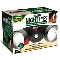 Беспроводной светильник на стену для наружного освещения Cordless Night Eyes с датчиком движеня уличный фонарь