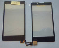 Nokia XL RM-1030 сенсорний екран, тачскрін чорний