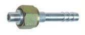 Фитинг шланга №8 (10мм) прямой 0° с накидной гайкой. O‐ring (кольцо)