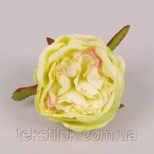 Головка Розы желто-зеленая  8 см. Цветы искусственные