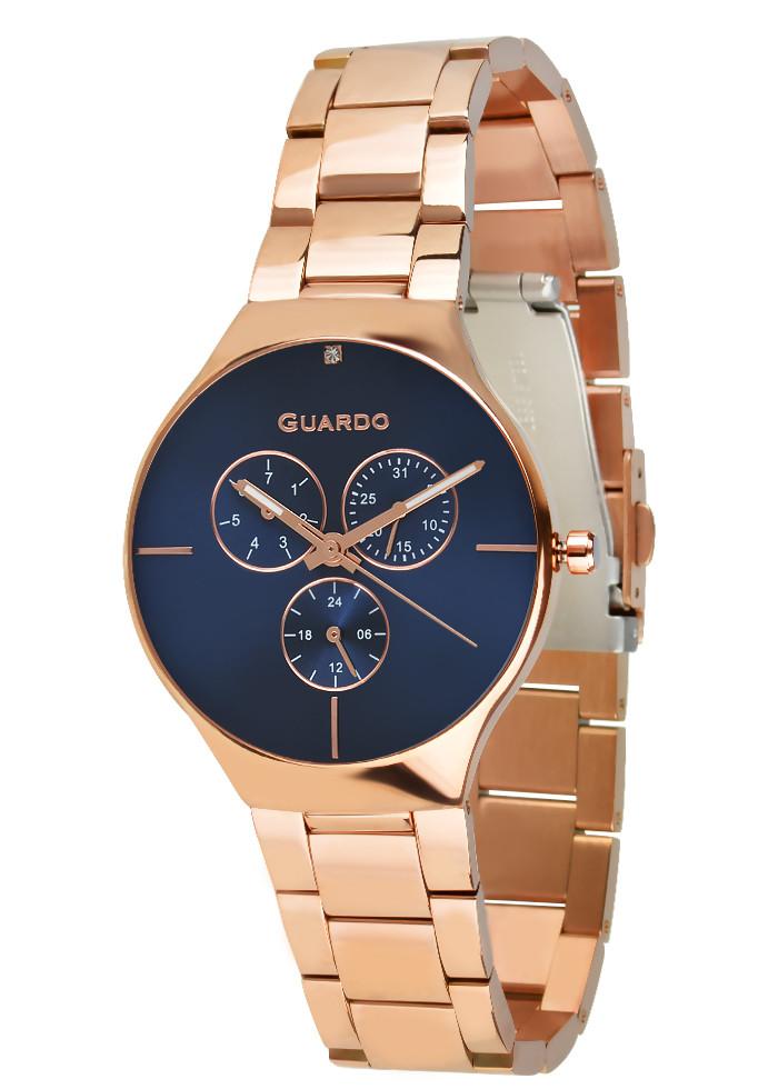 Часы женские Guardo золотые B01398-(1)-5 розово-золотые