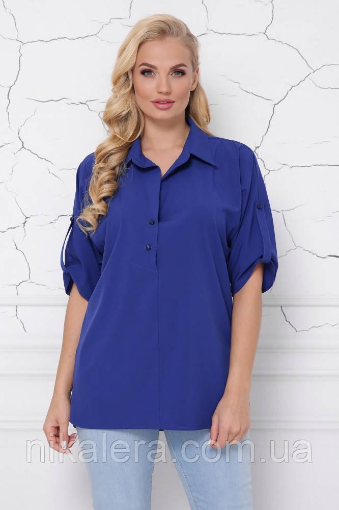 Женская блуза из ткани софт рр 48-58