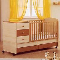 Детская кроватка трансформер для детей от 0 до 12 лет модель 09