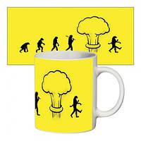 Прикольная чашка Эволюция
