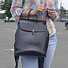 """Женский кожаный рюкзак """"Кристи Dark Blue"""""""
