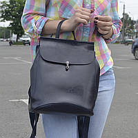 """Женский кожаный рюкзак """"Кристи Dark Blue"""", фото 1"""
