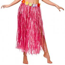 Гавайская юбка (75см) красная