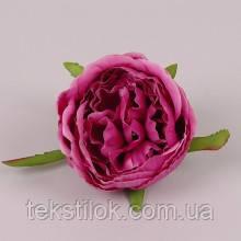 Головка Розы марсаловая  8 см. Цветы искусственные