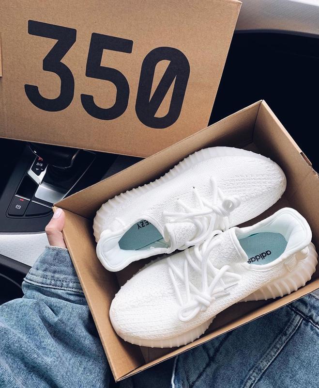 Женские кроссовки Adidas Yeezy Boost 350 (реплика, качество топ)
