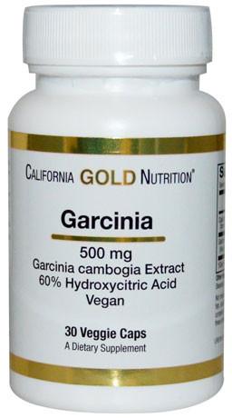 Гарциния камбоджийская California Gold Nutrition, 500 мг, 90 капсул. Сделано в США.