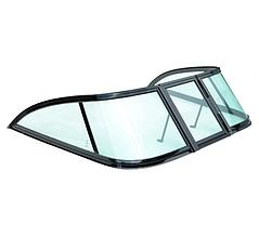 Вітрове скло для моторного човна Gala Progress, матеріал зелене скло гартоване