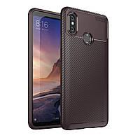 Чехол Carbon Case Xiaomi Mi Max 3 Коричневый