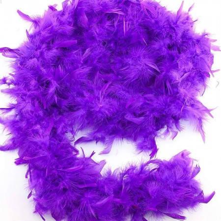 Боа из перьев 80г (сиреневое), фото 2