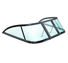 Вітрове скло для моторного човна Gala Kazanka матеріал — гартоване скло, зелене скло Kazanka