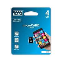 GOODRAM micro SDHC Class4 4GB без адаптера (M400-0040R11)