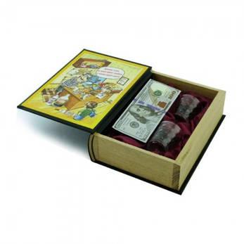 Книга-шкатулка с рюмками Как стать богатым, фото 2