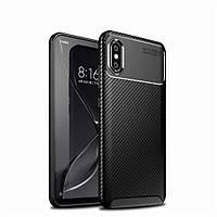 Чехол Carbon Case Xiaomi Mi 8 Pro Черный